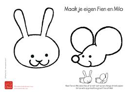 Kleurplaat Maak Je Eigen Fien En Milo Pauline Oud Illustraties