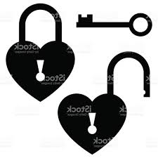 door lock and key black and white. Heart Lock Vector: Key To The Door Icon St Valentines Day Concept Vector And Black White