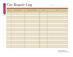 Equipment Repair Log Template Excel | Ophion.co