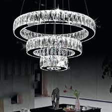 chandeliers modern led chandelier chandeliers long crystals diamond ring lamp stainless steel hanging light fixtures