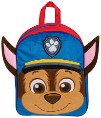 boys paw patrol 3d backpack chase soft plush