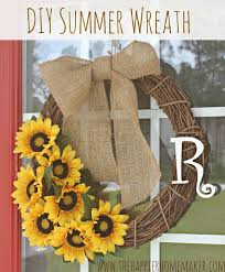 diy summer sunflower wreath