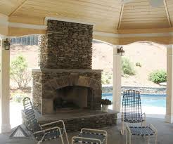 build a country stacked dry stone fireplace surround