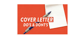 cover letter dos and don ts cover letter dos and donts