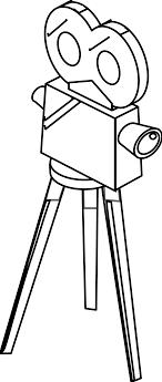 Small Picture movie camera black white line art s coloring book colouring