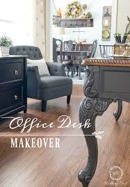finished office makeover. Farmhouse Style Home Office Desk Makeover || Worthing Court Finished G