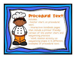 Procedural Text Anchor Chart Interactive Notebook Pages And Work Station