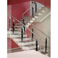 Indoor stair railings Cable Railing Stainless Steel Indoor Stair Railing Indiamart Stainless Steel Indoor Stair Railing Rs 450 square Feet New Vimal
