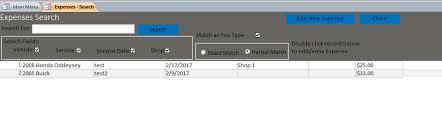 Car Maintenance Record Microsoft Access Vehicle Maintenance Database Template