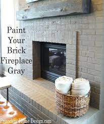 painting a brick fireplace gray painted brick fireplace paint your brick fireplace gray found at painting a brick fireplace