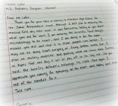 Thoughtful Student Thank-You Note | Junior Achievement Of North Florida