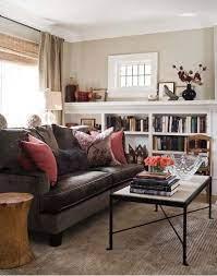 brown sofa living room