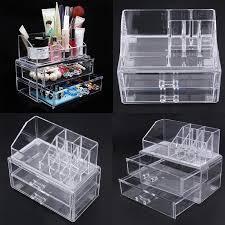 whole excellent cosmetic organizer two layer drawers acrilico desk organizer acrylic makeup organizer storage box rangement maquillage