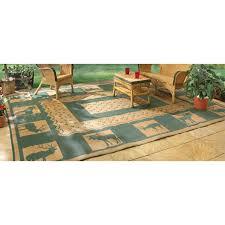 guide gear reversible outdoor rug 9 foot x 12 foot khaki hunter green
