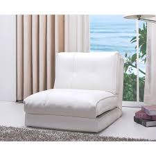 Abbyson Jackson White Leather Single Sleeper Chair - Free Shipping Today -  Overstock.com - 17080213