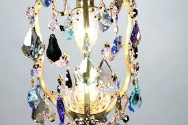 multi colored chandelier small crystal o colorful petite birdcage gypsy large