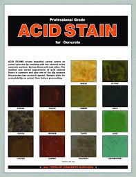 Concrete Floor Color Chart Acid Stain