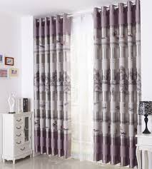 Gray Patterned Curtains
