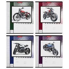 <b>Тетрадь</b> 24 листа в клетку <b>Motorcycle Story</b>, обложка мелованный ...