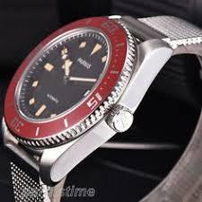 <b>41mm Parnis</b> Blue Dial Miyota Automatic <b>Men</b> Mechanical <b>Watch</b> ...