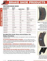 Brake Shoe Products Roadwolf Brake Products Brake Shoe