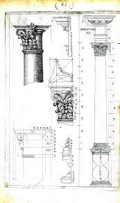 Design Archicture Drawing Columns Corinthian Architectural