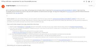 Google Play Customer Service Is Google Play Really Going To Suspend All Apps Using Accessibility