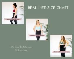 A Glow Maternity Size Chart Real Life Size Chart Bomaternity