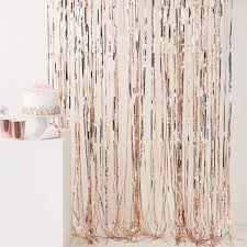 1 of 6free rose gold foil fringe curtain party wedding backdrop hen night wall door decor