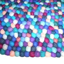 under the sea rug milk tooth wool felt ball rug under the sea in or area