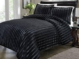 black faux fur duvet cover home design ideas