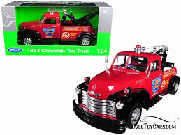 1953 Chevy Tow Truck, Red and Black - Welly 22086W-RDBK - 1/24 ...