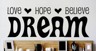 Dream Hope Quotes Best of Amazon Design With Vinyl OMG 24 Black Love Hope Believe Dream