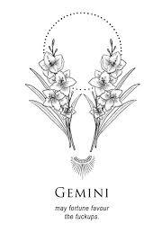 Illustration And Inanity By Amrit Brar Gemini Tetování Blíženci