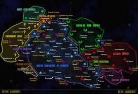 Star Trek Galaxy Chart Maps Of The Alpha And Beta Quadrants Startrek