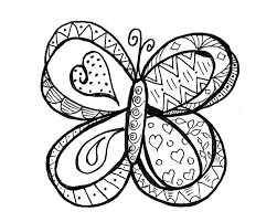 Doodle coloring pages butterfly - ColoringStar