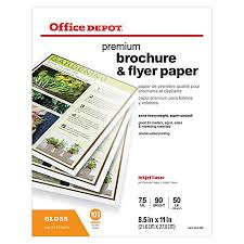paper flyer office depot brand professional brochure and flyer paper glossy 8