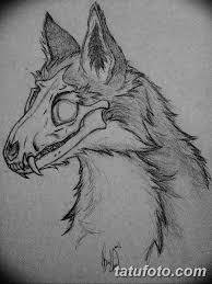 черно белый эскиз тату с лисой 09032019 046 Tattoo Sketch