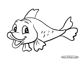 Cute Fish 4 Coloring Page