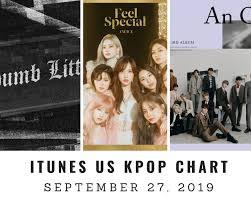Itunes Us Itunes Kpop Chart September 27th 2019 2019 09 27