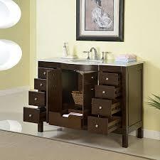 60 Inch Single Sink Vanity Cabinet 48034 Single Sink White Marble Top Bathroom Vanity Cabinet Bath