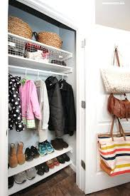 coat closet storage ideas coat closet organization