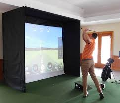 minibay home golf simulator enclosure for small spaces