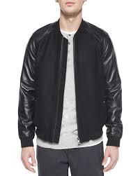 mens baseball jacket leather sleeves o8x3ng