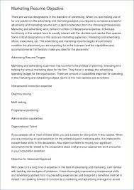 Marketing Resume Objective Examples Kantosanpo Com