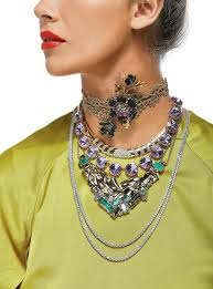 and rhinestone 5 800 at mindy lam gold and diamond collar 28 000 at shah shah baublebar lydia statement necklace 48 at bloomingdale s