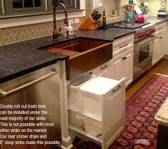 Under Kitchen Sink Storage The Smart Kitchen Sink Cabinet Allows Double Roll Out Trash