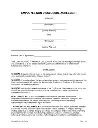 Data Confidentiality Agreement Unique Intellectual Property Contract Form Samples Simple Non Disclosure