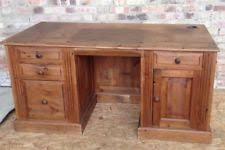 pine office desk. Large Office Desk Antique Pine Study Drawers Pedestal Cupboard Bedroom A