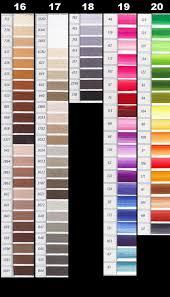 Anchor Cross Stitch Thread Colour Chart Anchor Cross Stitch Colour Chart 2019